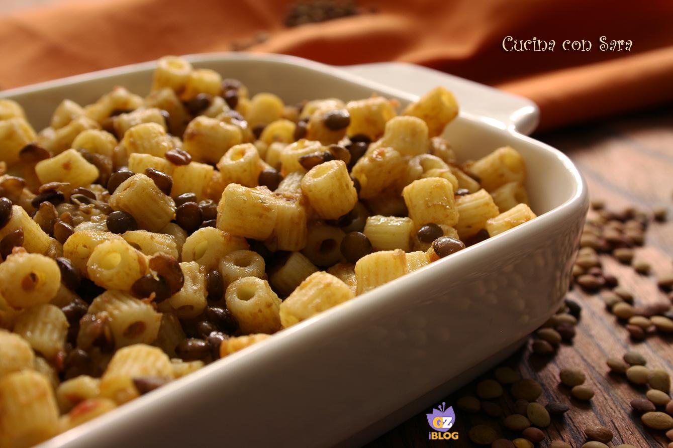 Pasta e lenticchie cucina con sara - Cucina con sara ...