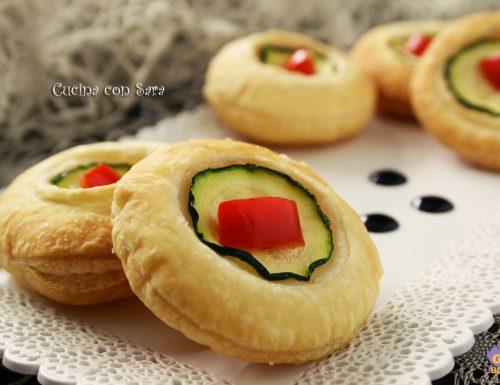 Sfoglie alle zucchine e peperoni, ricetta finger food