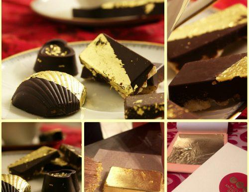 Ricetta cioccolatini con foglia d'oro