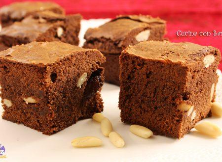 Ricetta brownies cannella uvetta e pinoli
