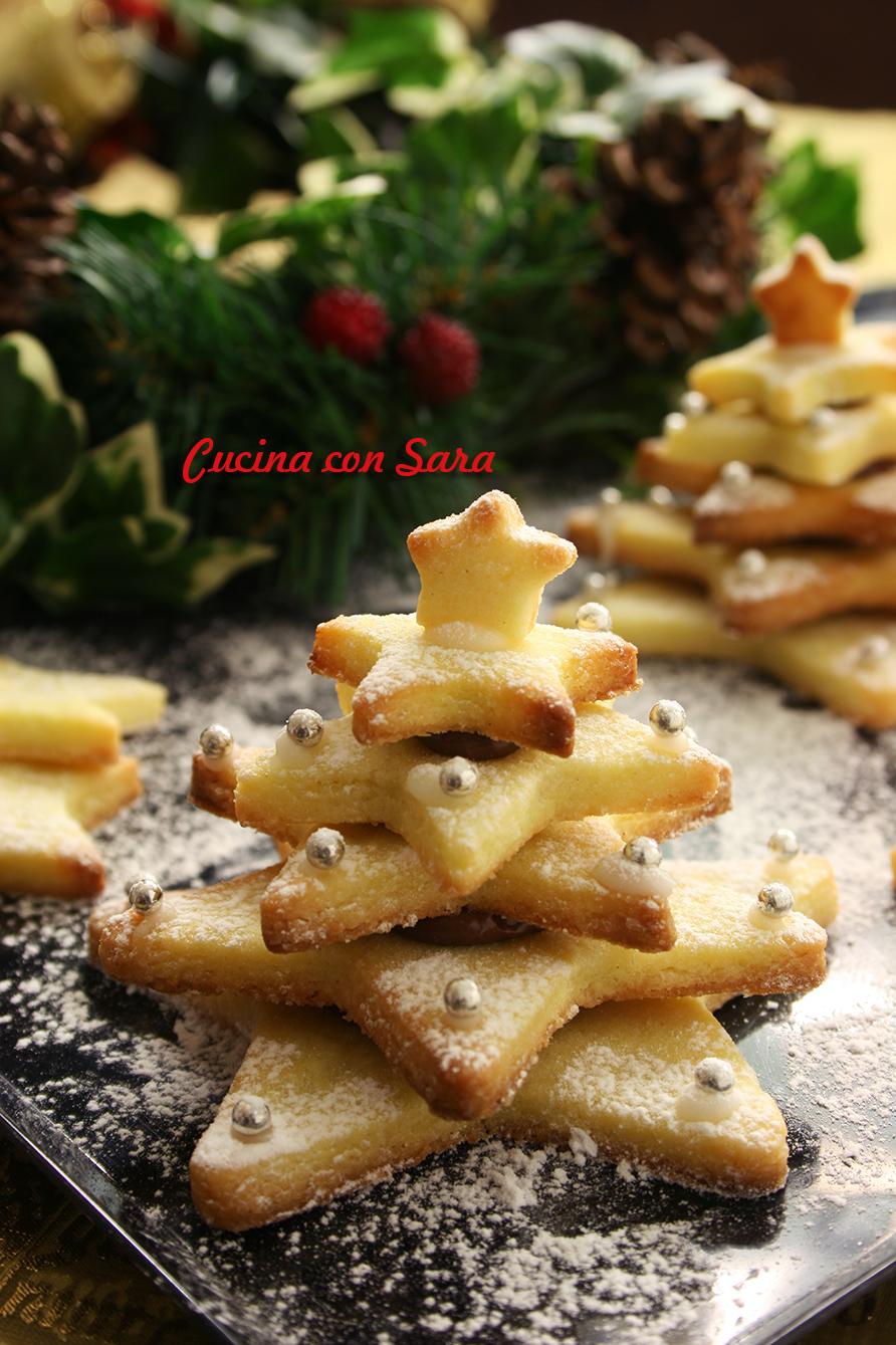 Alberelli di pasta frolla, cucina con sara
