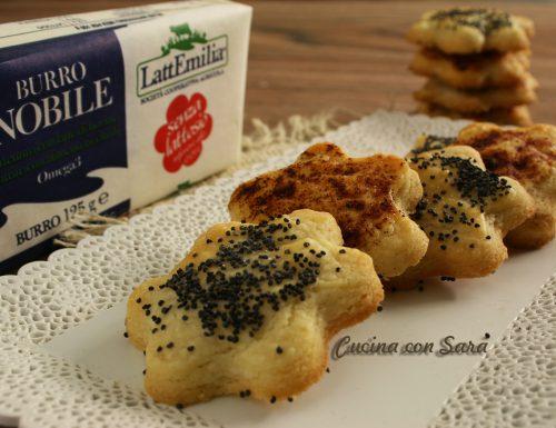 Ricetta biscotti di frolla salata, saporiti e sfiziosi