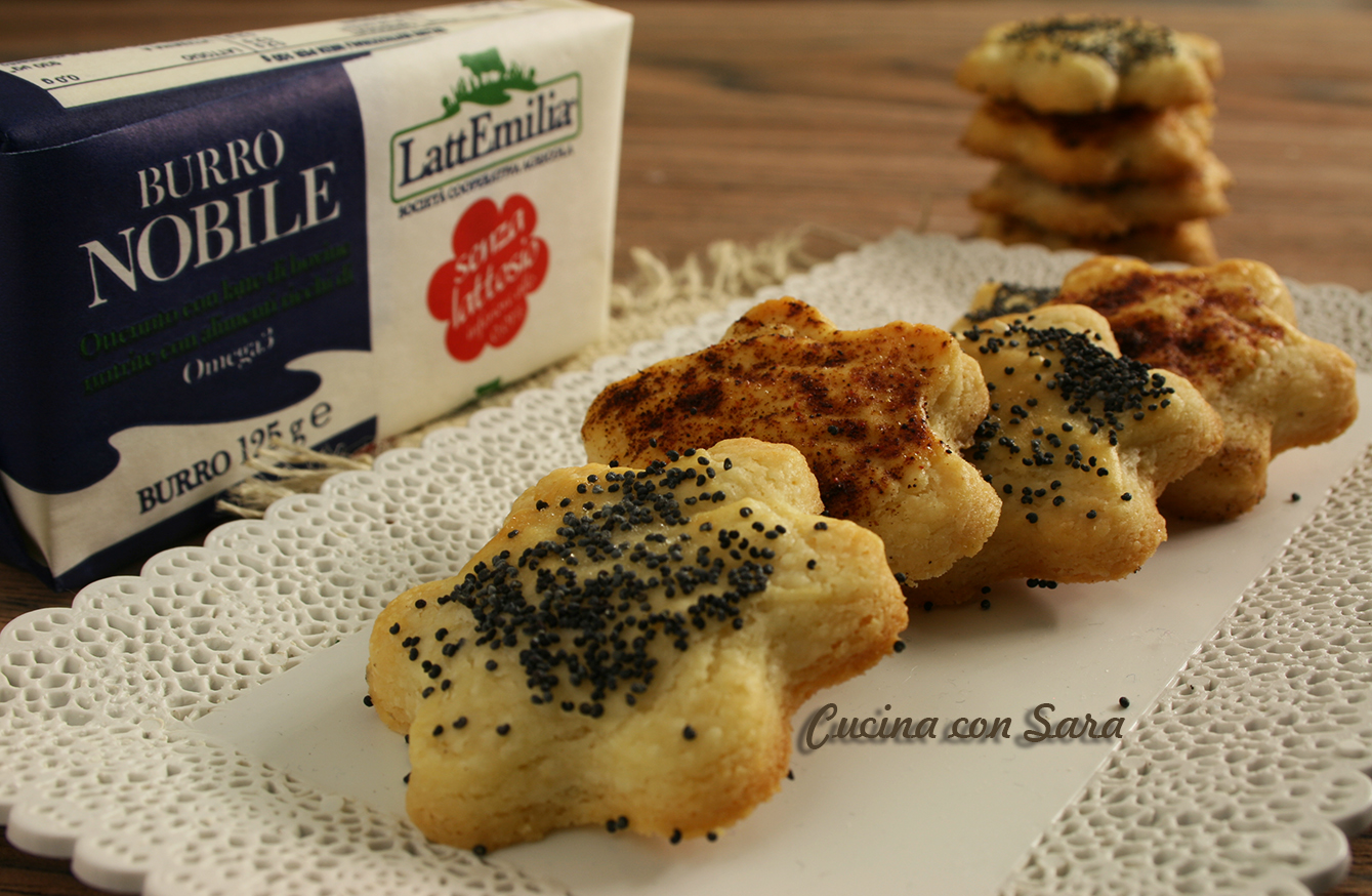 Ricetta biscotti di frolla salata, cucina con sara
