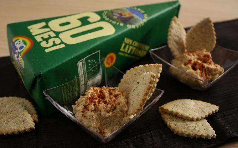 Crema di parmigiano reggiano con crackers homemade