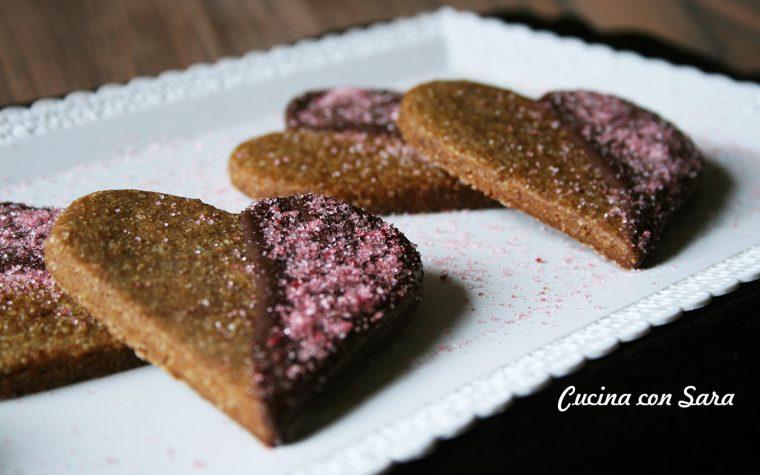 Cuori di frolla al caffè e cioccolato fondente – San Valentino