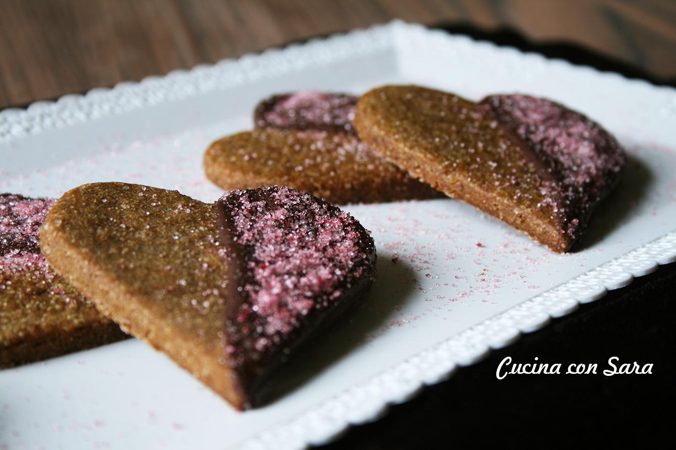 Cuori di frolla al caffè e cioccolato fondente, cucina con sara