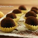 Ricetta tartufini al cioccolato, cucina con sara