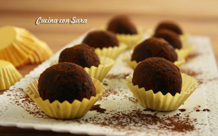 Ricetta tartufini al cioccolato, con video ricetta