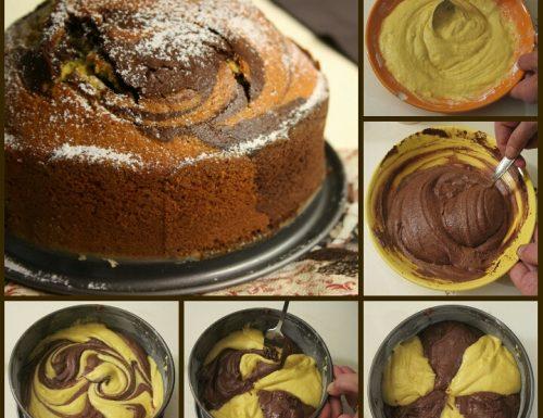 Torta bicolore soffice – con tutorial fotografico