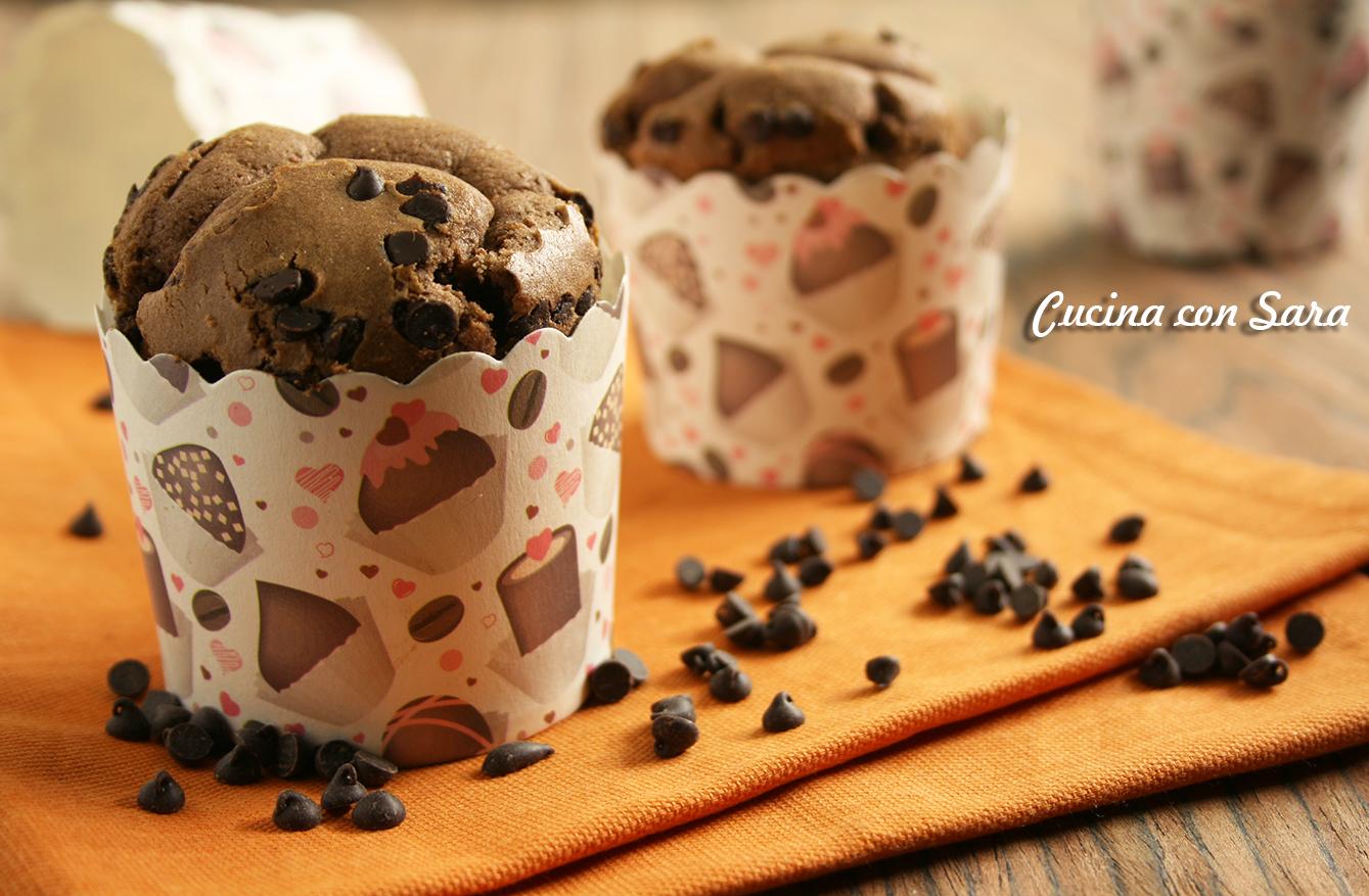 Ricetta muffin al cioccolato, cucina con sara