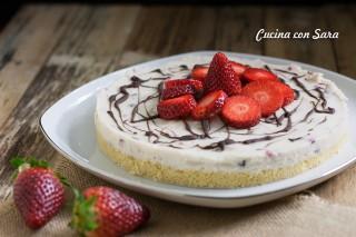 cheesecake alle fragole, cucina con sara