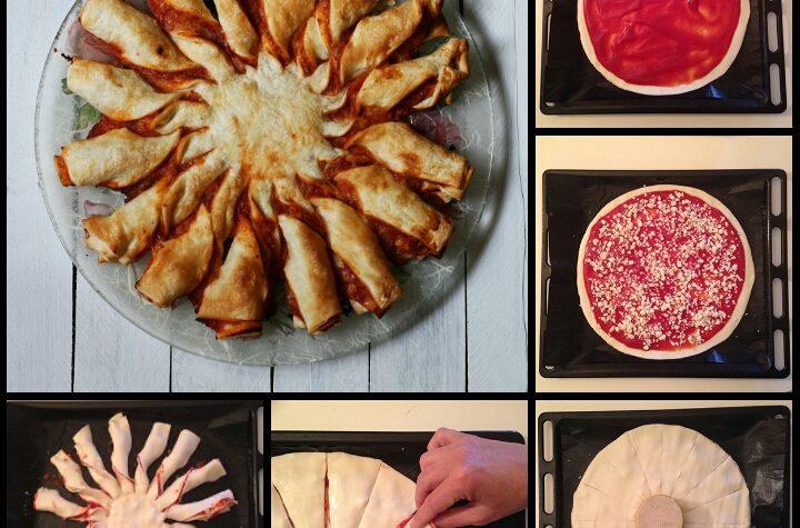 Ricetta girasole di sfoglia alla pizzaiola
