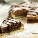 Crostata al cioccolato e nutella fetta