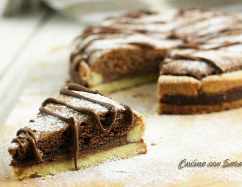 Crostata al cioccolato e nutella – tre strati di bontà!
