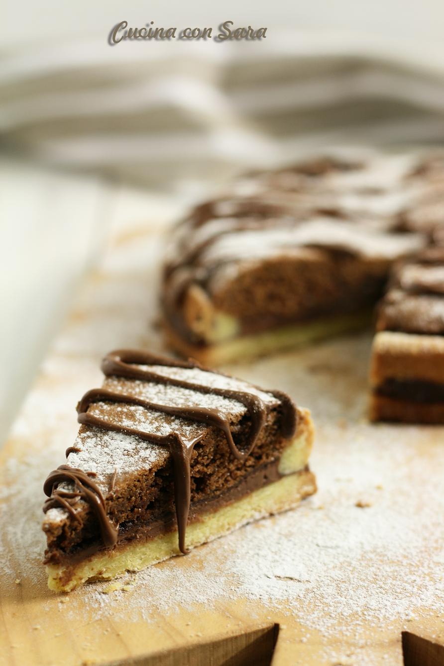 Crostata al cioccolato e nutella, cucina con sara