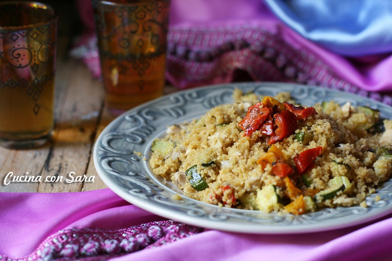 Cous cous verdure e sgombro - ricetta estiva