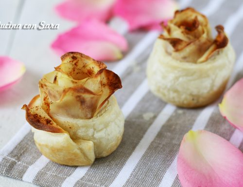 Rose di pasta sfoglia alle patate, con video ricetta