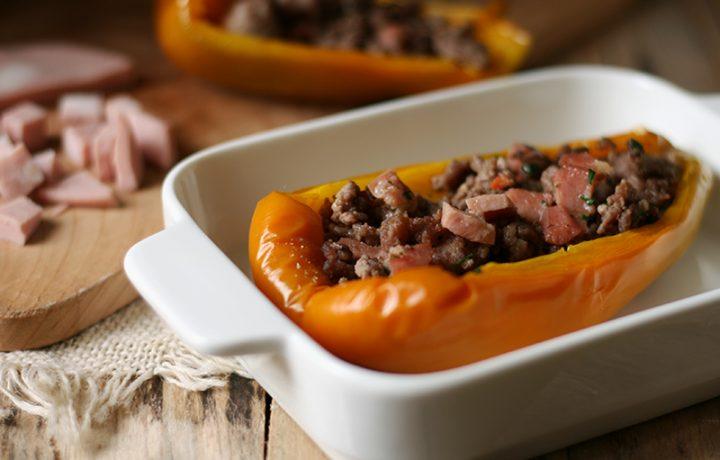 Ricetta peperoni ripieni carne e mortadella bologna IGP