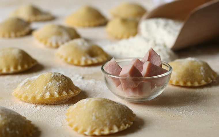 Ricetta ravioli di carne e mortadella bologna igp