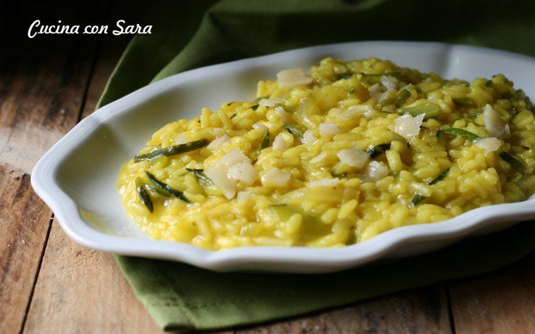 Risotto alle zucchine e zafferano – ricetta semplice