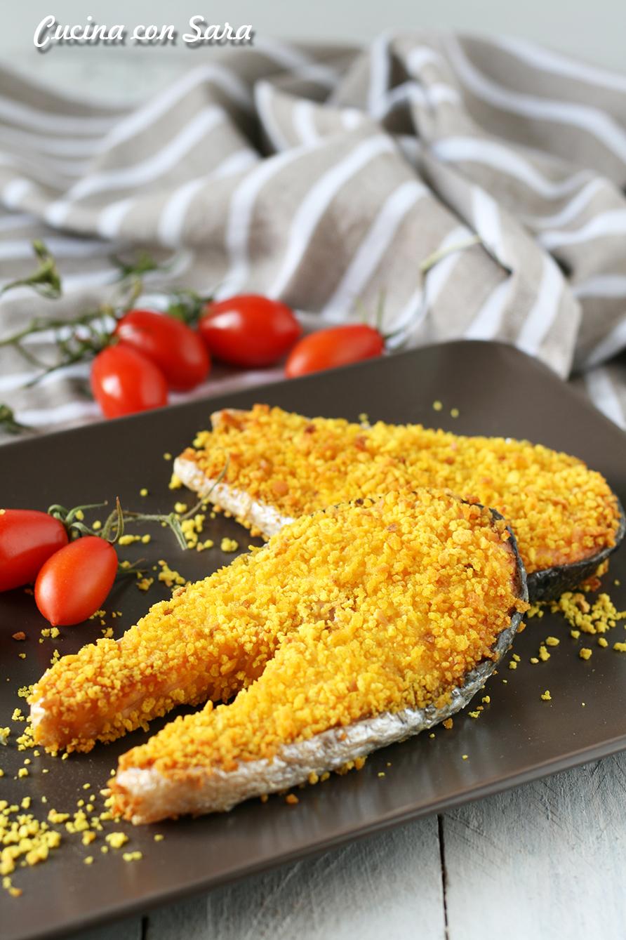 Salmone impanato al forno, cucina con sara