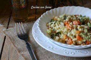 Cous cous freddo con verdure e cannellini, cucina con sara