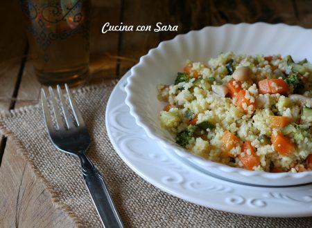 Cous cous freddo di farro con verdure e cannellini