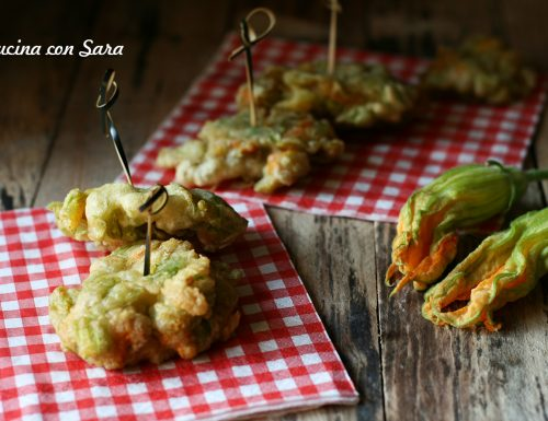 Fiori di zucchina in pastella – ricetta senza uova