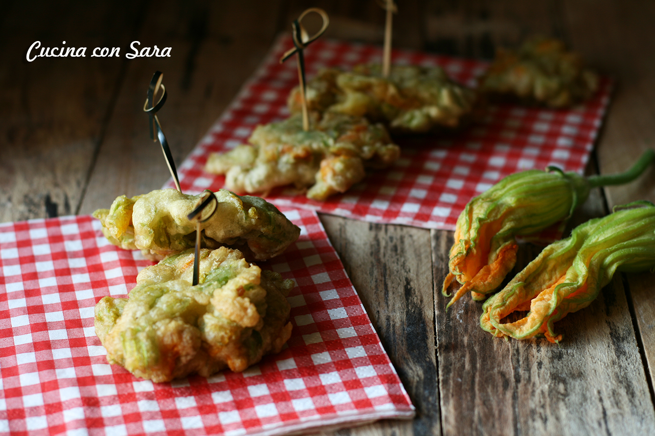 Fiori di zucchina in pastella - ricetta senza uova