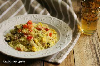 Ricetta cous cous freddo tonno e verdure, cucina con sara