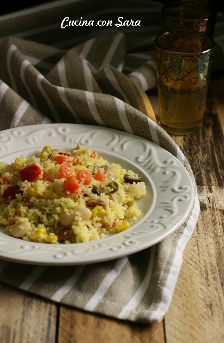 Ricetta cous cous freddo, cucina con sara