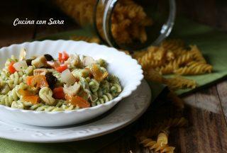 Insalata di pasta con crema di zucchine e verdure, cucina con sara