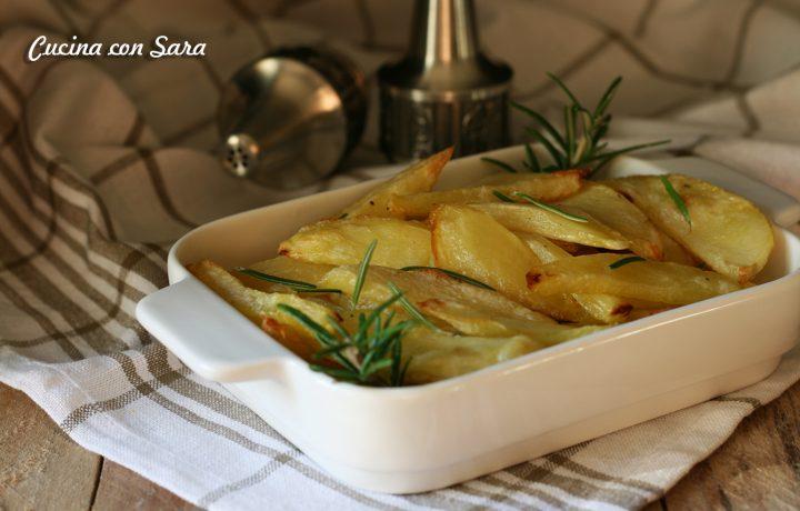 Patate al forno – buone e croccanti come quelle fritte