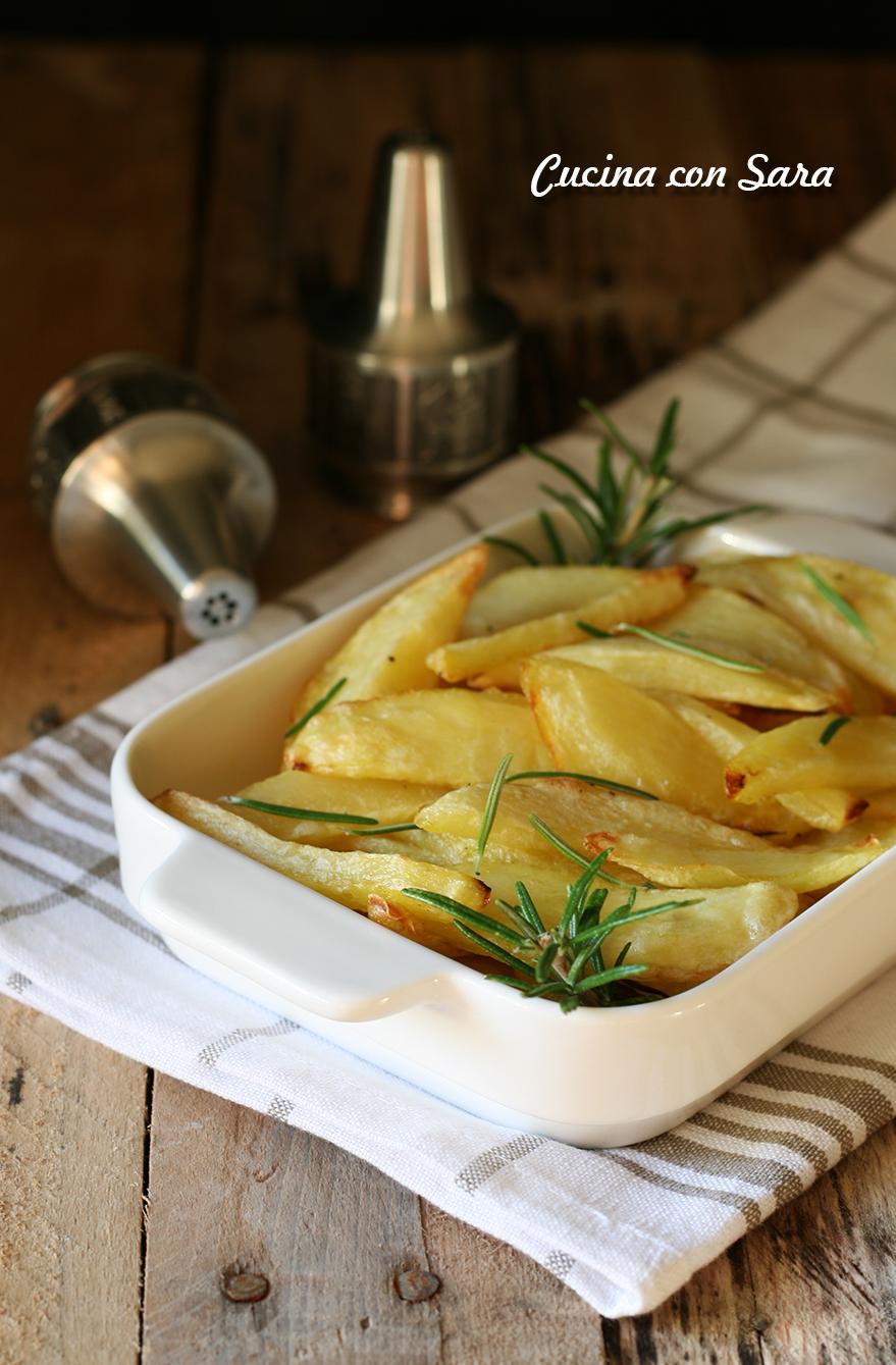 Patate al forno - buone e croccanti come quelle fritte, cucina con sara
