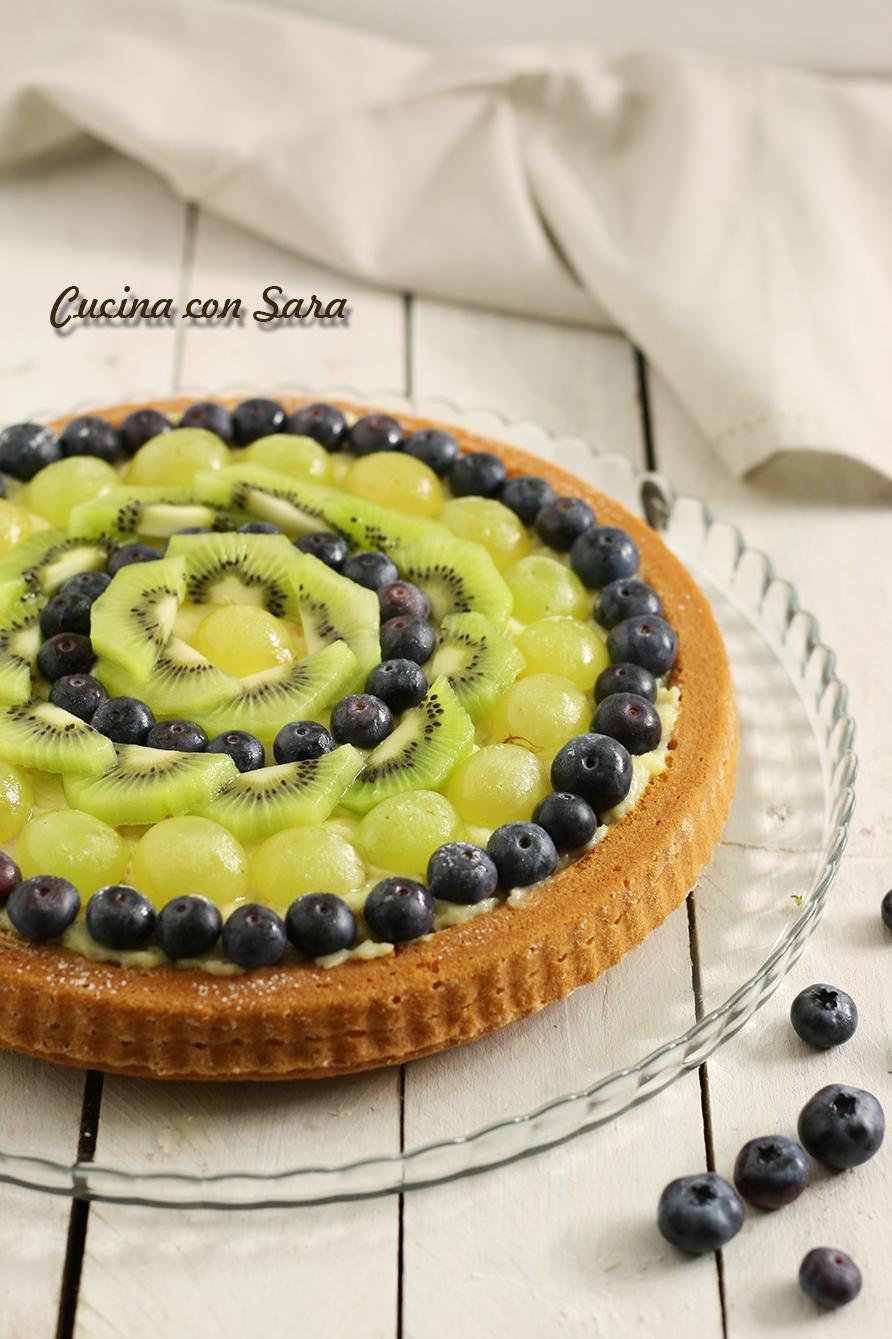 Crostata morbida frutta fresca e crema pasticcera