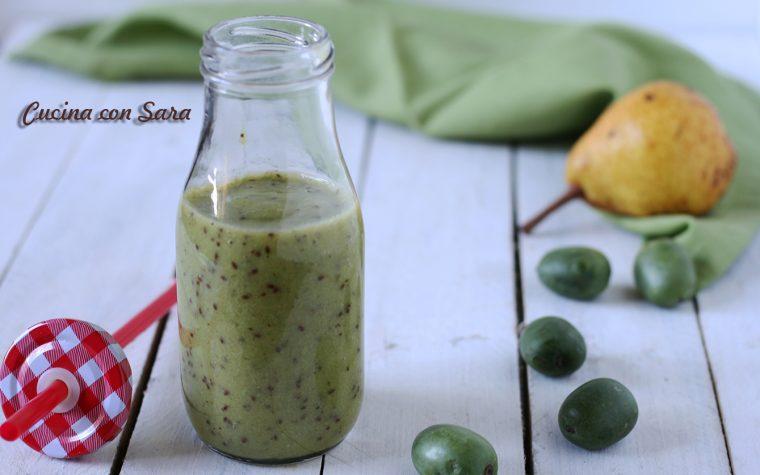 Ricetta smoothie pera e nergi (baby kiwi)