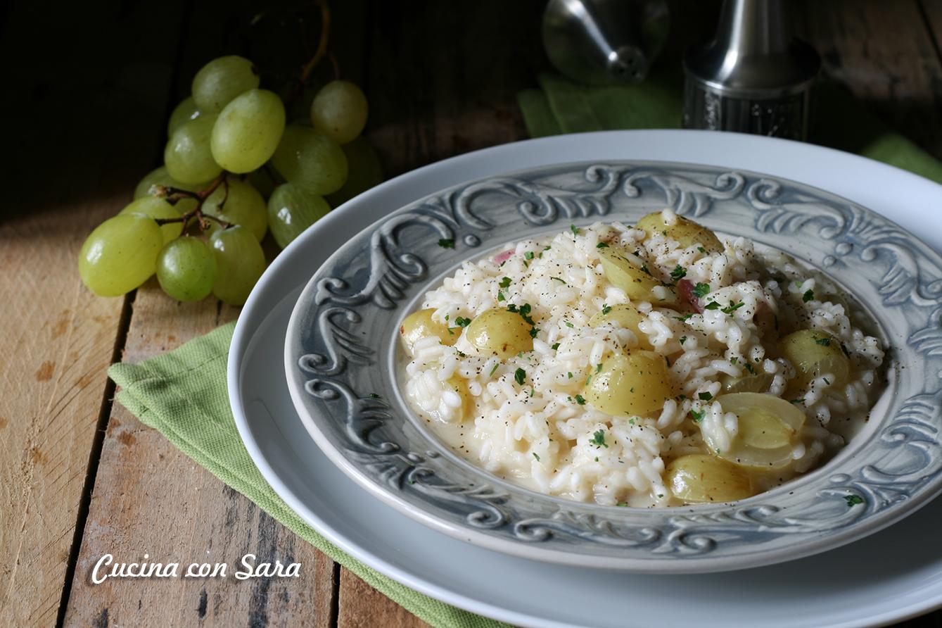 Ricetta risotto all'uva - cremoso e delicato