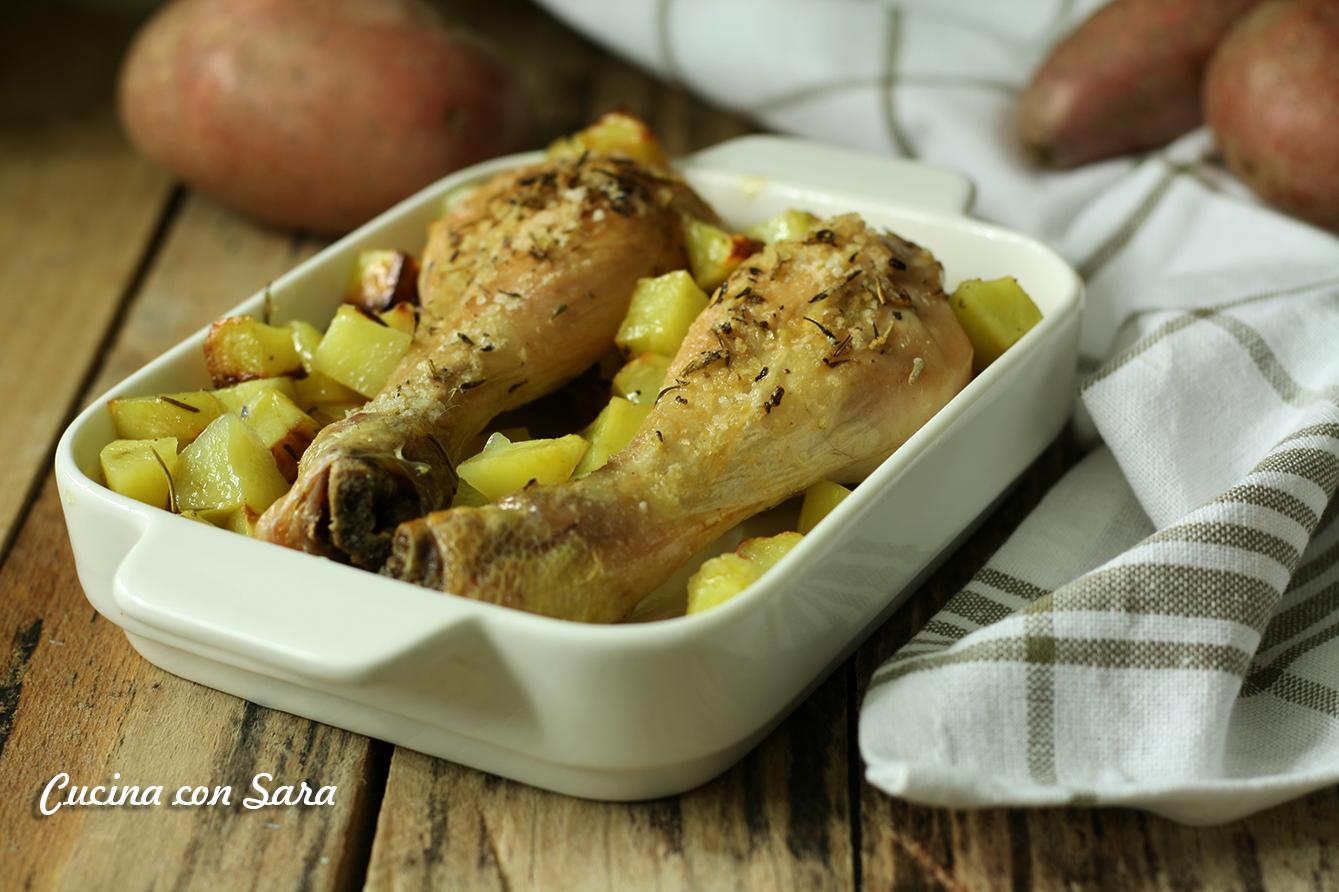 Ricetta cosce di pollo al forno con patate