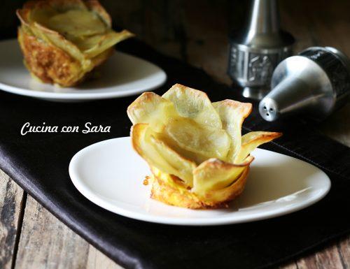 Ricetta tortino di patate a fiore – con video ricetta