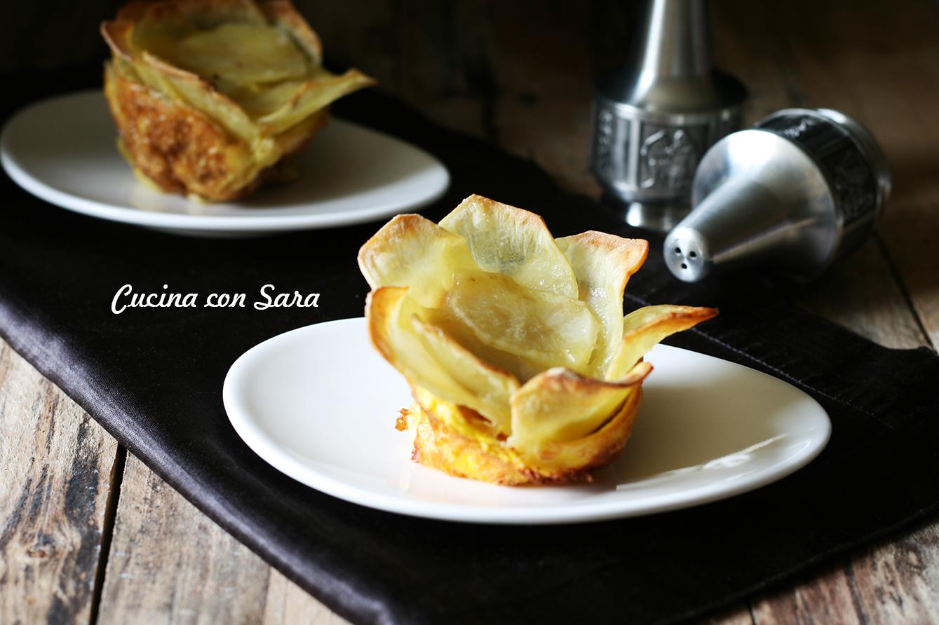 ricetta tortino di patate a fiore cucina con sara