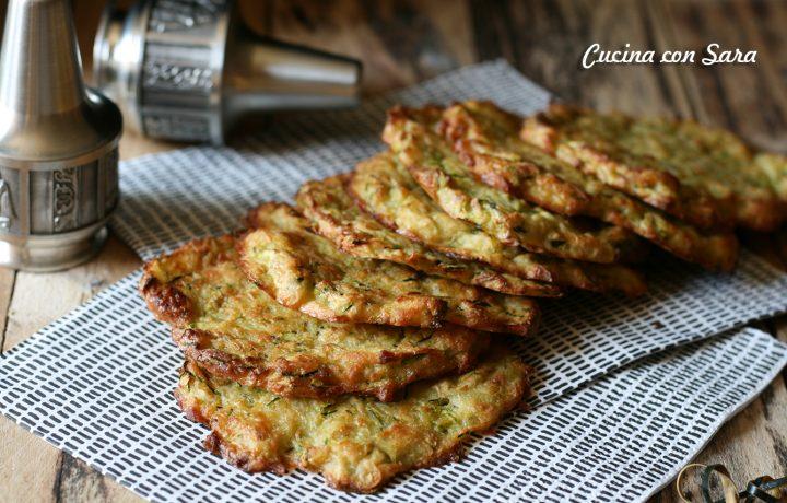 Frittelle patate e zucchine al forno – ricetta e video ricetta