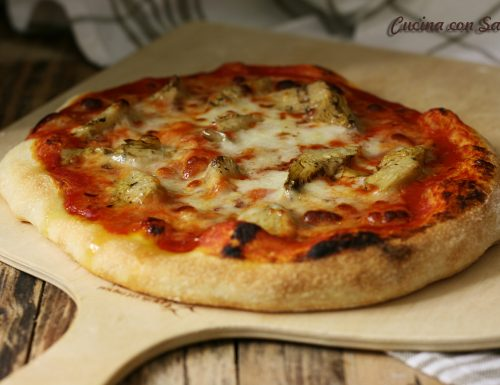 Pizza con carciofini – solo 1 grammo di lievito di birra!