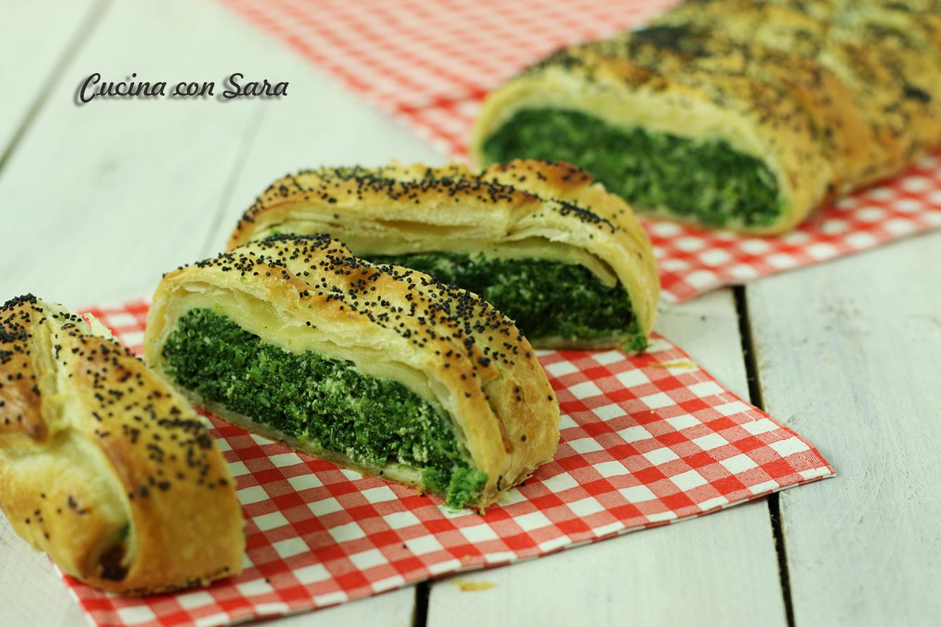 Ricetta strudel di sfoglia con ricotta e spinaci - velocissimo!