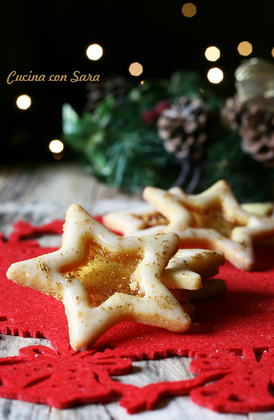 biscotti di natale con vetrino cucina con sara