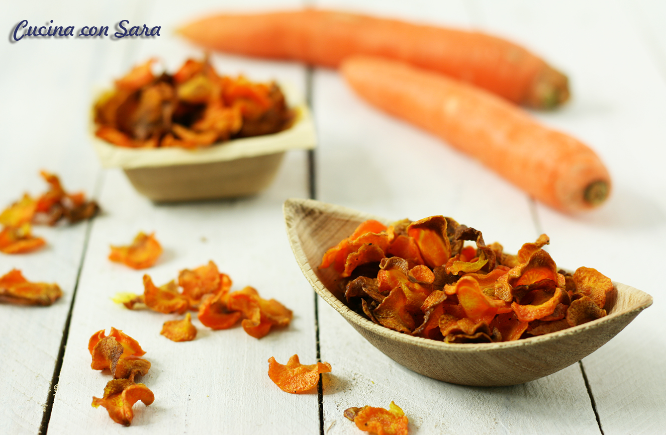 Chips di carota al forno - croccanti ed irresistibili