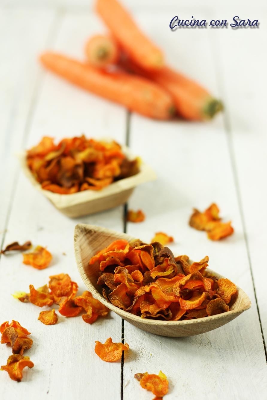 chips di carote, cucina con sara