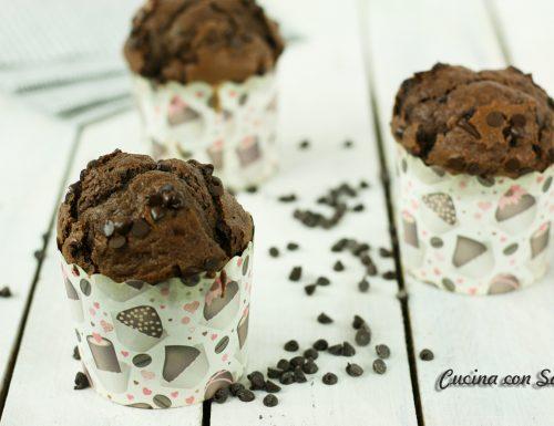 Muffin doppio cioccolato – ricetta veloce e senza burro!