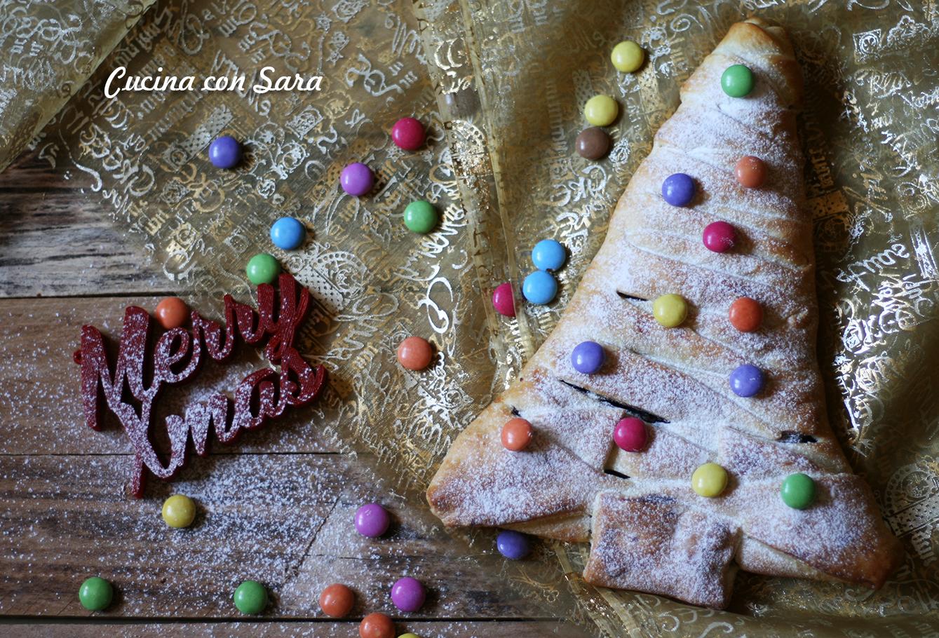 albero di natale nutella e corn flakes cucina con sara