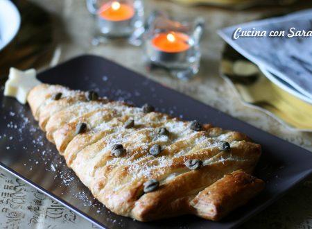 Ricetta strudel natalizio zucchine, gamberetti e ricotta