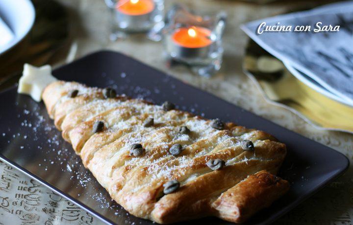 ricetta strudel natalizio zucchine gamberetti e ricotta